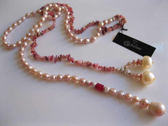 Pink Pearl Necklace donated to charity