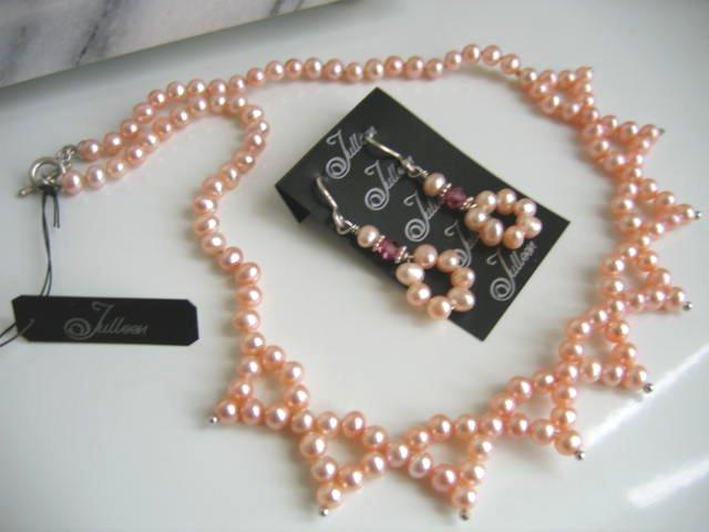 Pink Pearl Jewellery Set